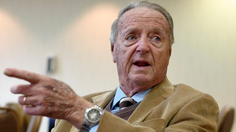 Retired Florida State coach Bobby Bowden speaks during an interview with the Associated Press...