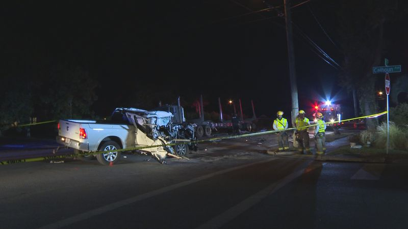Debris could be seen all over the road from where the semi was hit and the scene remained very...