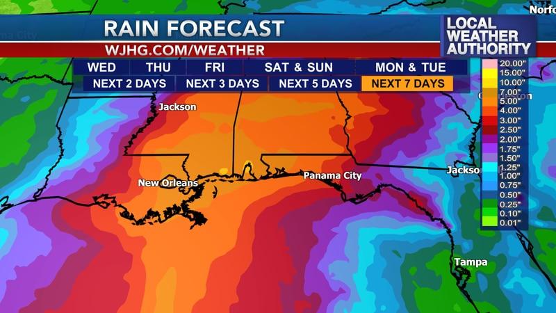 Tropical moisture will bring better rain chances this weekend.