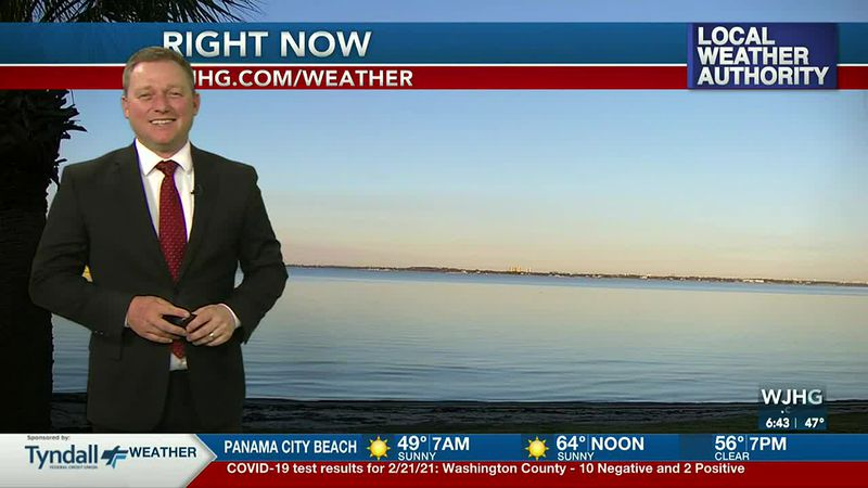 Meteorologist Ryan Michaels showing this morning's sunrise over the bay.