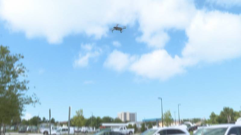 On Friday, students took aerial shots of Panama City Beach, getting a birds-eye perspective of...
