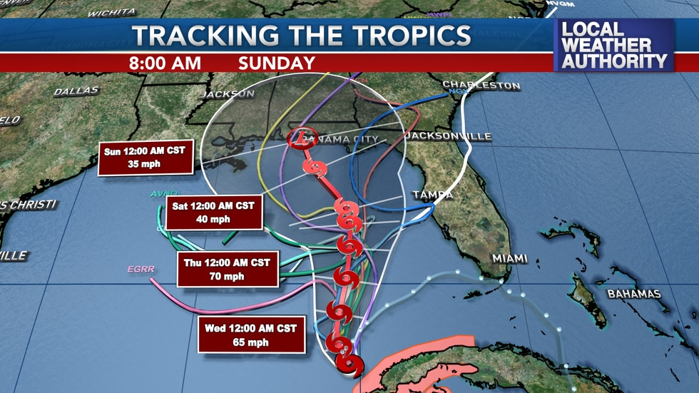 Eta will gradually shift northward over the rest of the week possibly diminishing in the...