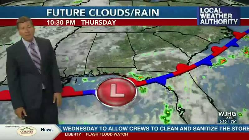 Rain chances will remain high through Thursday