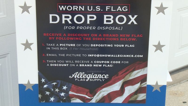 The boxes allow anyone to properly retire a flag.
