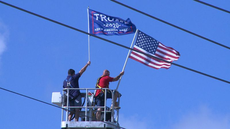 """The Bay County Republican Party held a """"Stand With Trump"""" event Sunday."""