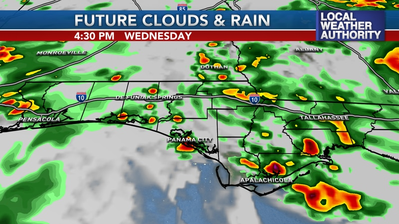 Hit or miss storms develop this afternoon in NWFL.