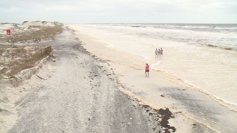 Hurricane Sally caused heavy damage to the beaches and dunes of St. Andrews State Park.