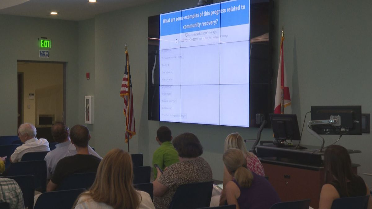 Panama City locals use interactive to share their thoughts about city recovery plans. City...