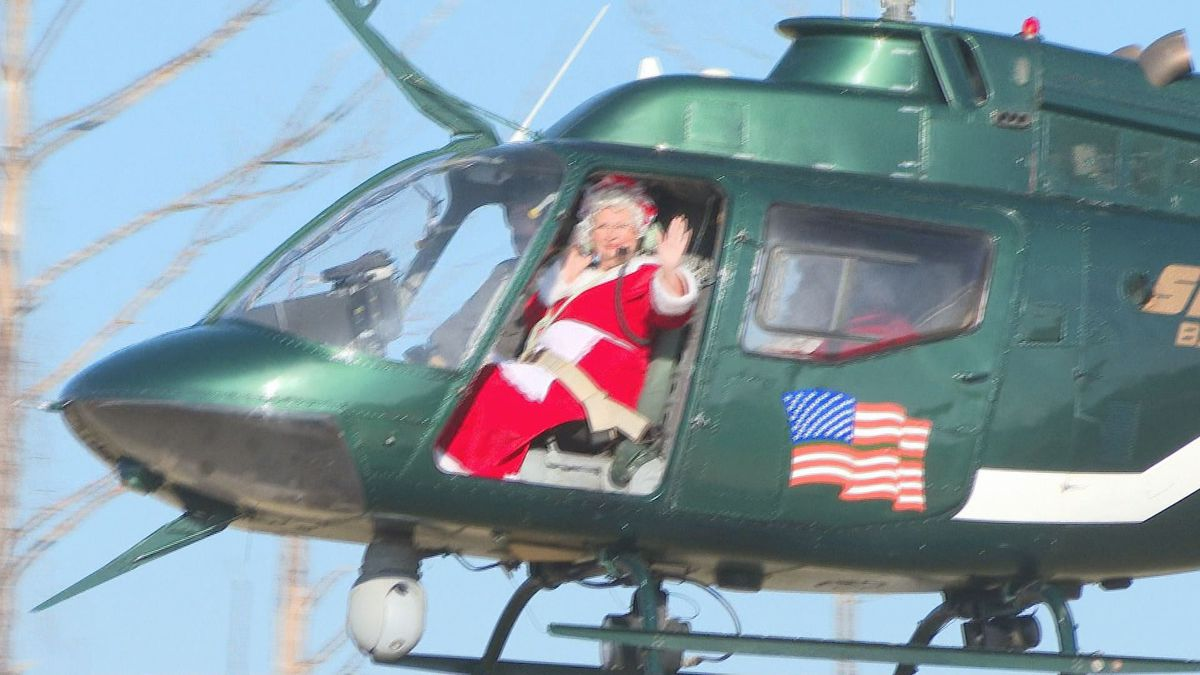 Saturday, many local kids got to see Santa and Mrs. Claus fly into H.G. Harder's Park in Panama City on a helicopter. (WJHG/WECP)