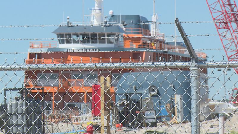 The ferry is making its last stop in Port St. Joe for finishing touches before it heads to New...
