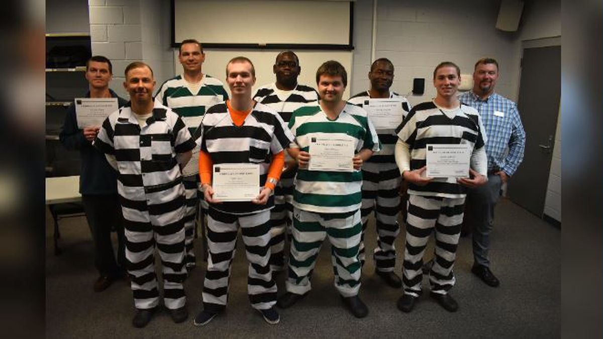 Eight people at the Walton County Jail graduated this month, after passing the American Welding Society certification exam. (WJHG/WECP)
