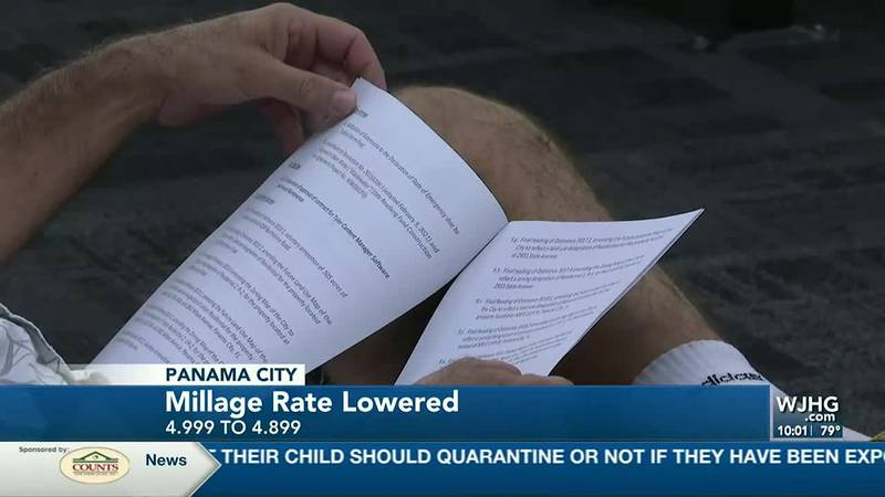 The Panama City millage rate was lowered.