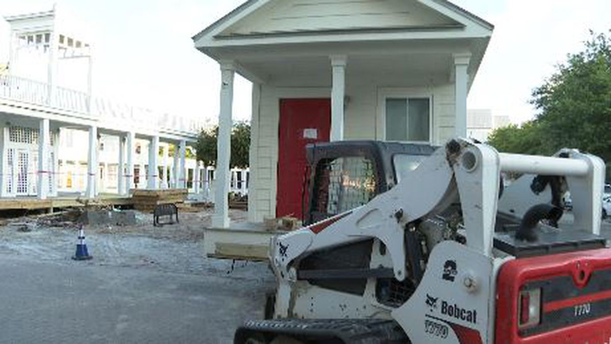 A building that was part of the Academic Village at the Seaside Neighborhood School is moved...
