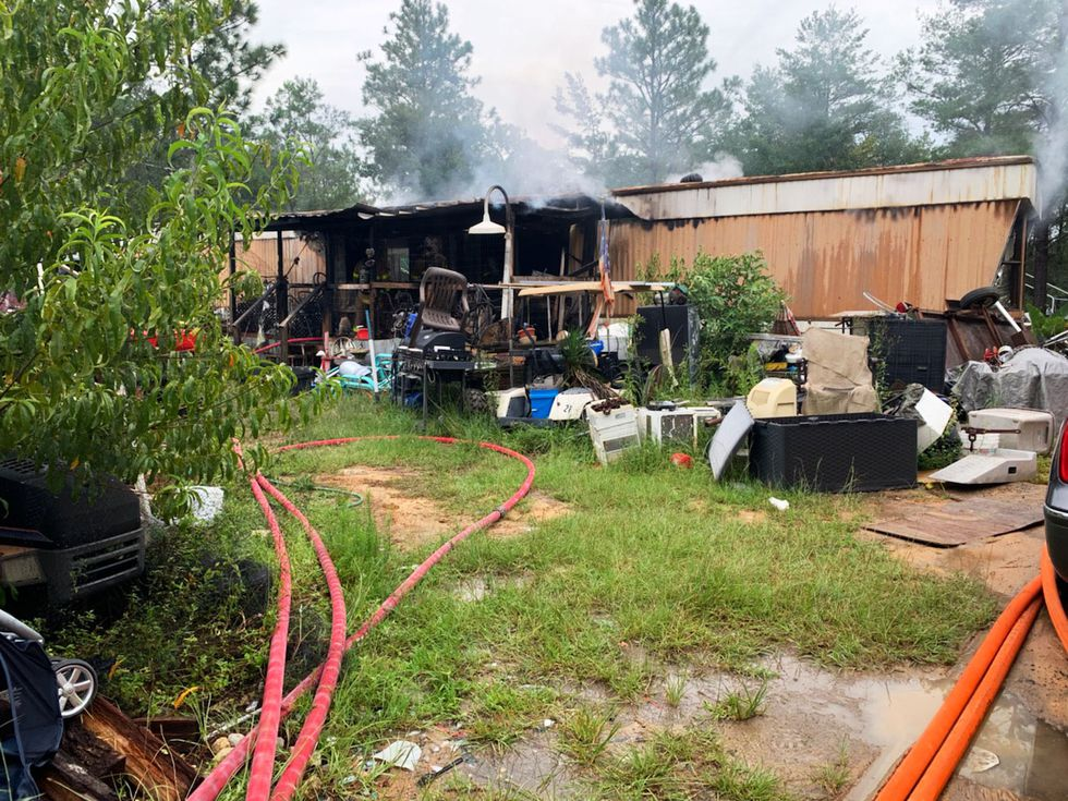 Two dogs were killed in a mobile home fire in Mossy Head Wednesday afternoon.