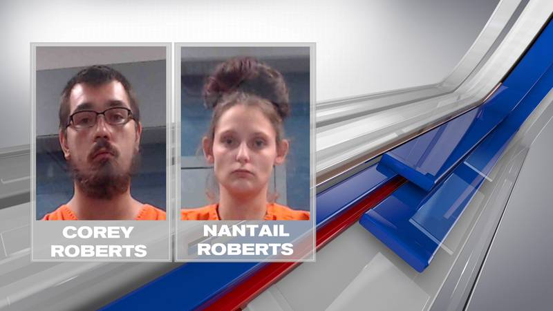 Nantail Roberts, 24, and Cory Roberts, 22, are arraigned on child neglect charges after their...