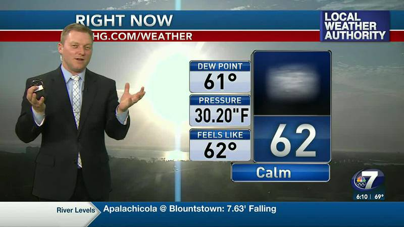 Meteorologist Ryan Michaels says we'll feel a bit more humidity on the coast today.