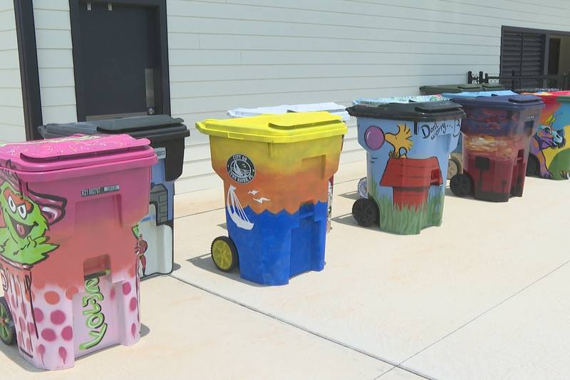 Local artists showcase talent in Lynn Haven trash can design contest