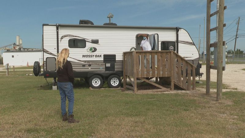Some residents still remain in FEMA trailers off Sherman Avenue in Panama City.
