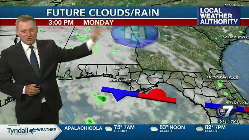 Meteorologist Ryan Michaels says a few stray showers are all that will develop in the early...
