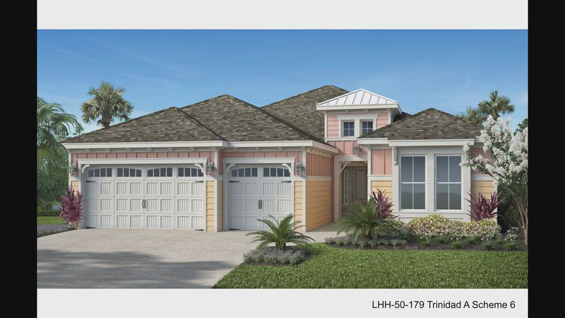 A rendering of a home in the Latitude Margaritaville Watersound community.
