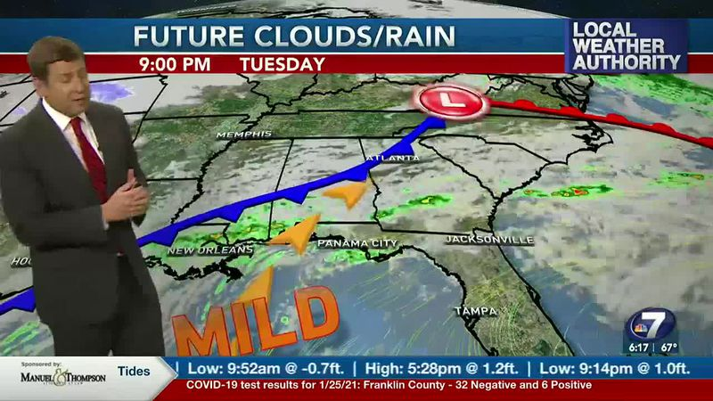 One more round of rain before cooler weather returns.