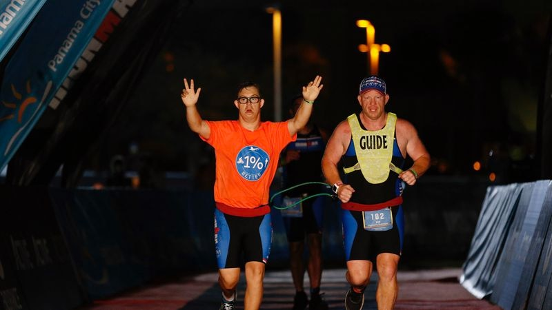 Nikic is the first person with Down Syndrome to finish a full IRONMAN.