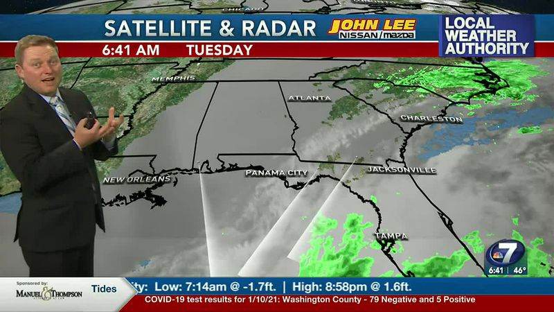 Meteorologist Ryan Michaels says we'll be cloudy through much of the day today.