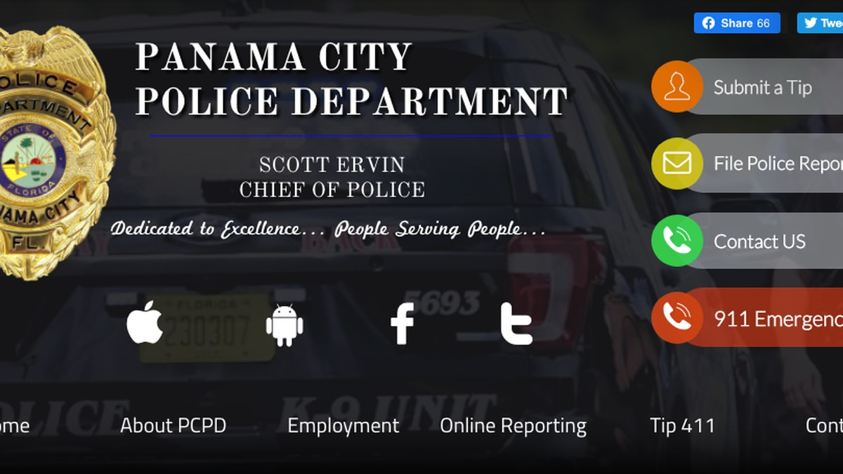 A new tool on the Panama City Police Department's website allows people to file a complaint...