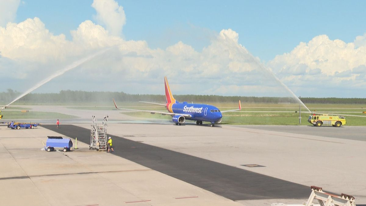 First flight from Kansas City Missouri lands at local Bay County airport. Passengers say they're happy to fly to Panama City without connecting flights. (WJHG/WECP)