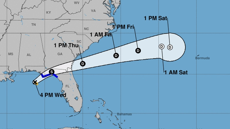 Tropical Storm Mindy formed in the northeast Gulf of Mexico on Wednesday afternoon, the...