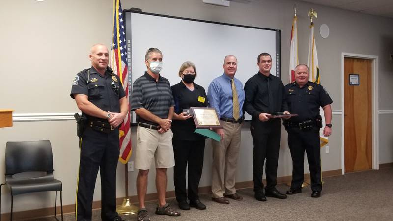 2 waffle house employees receive Lifesaving award for their quick actions in helping save the...