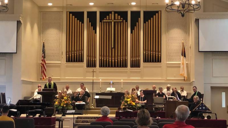 First Methodist Church of Panama City holds first services in rebuilt sanctuary