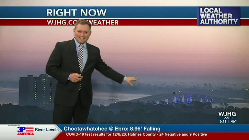 Meteorologist Ryan Michaels points out some of the fog we had visible over Panama City this...