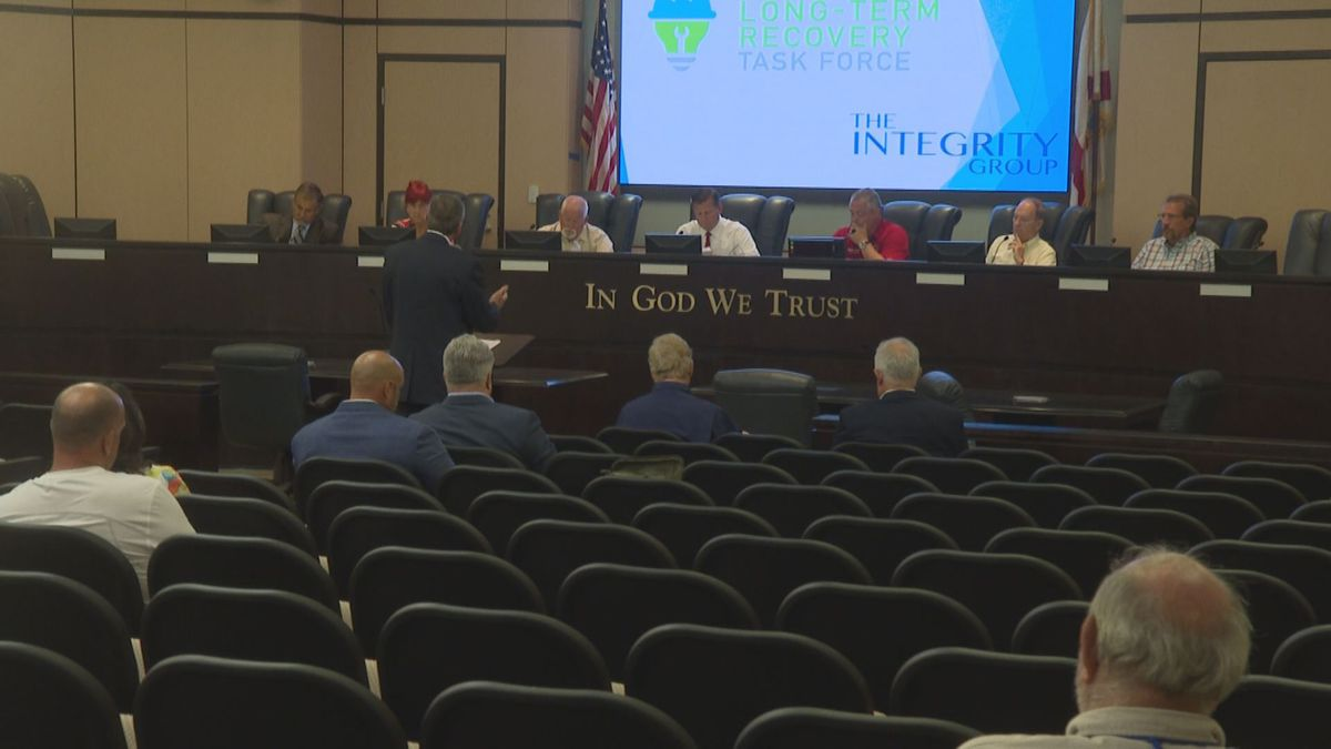 Bay County Long Term Recovery Task Force approving a long term recovery plan. (WJHG/WECP)