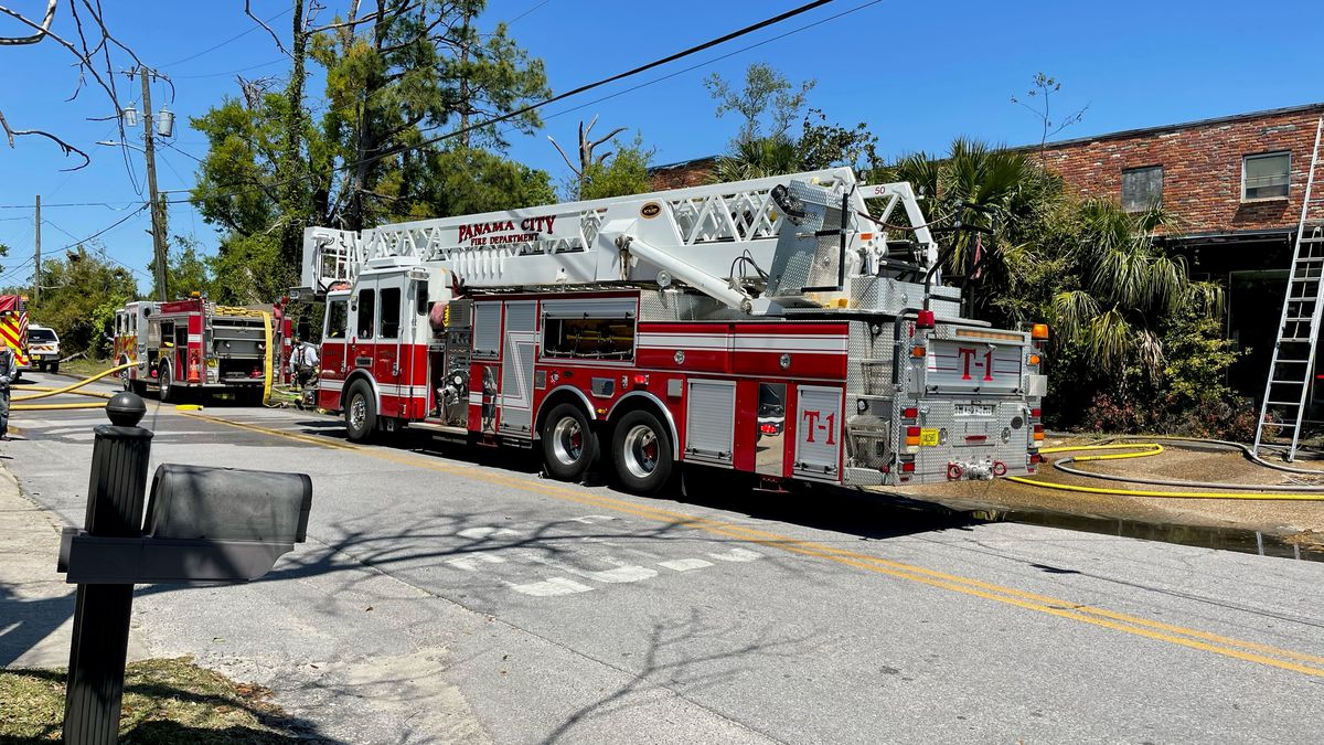 Firefighters responded to a structure fire off 15th Street in Panama City Thursday afternoon.