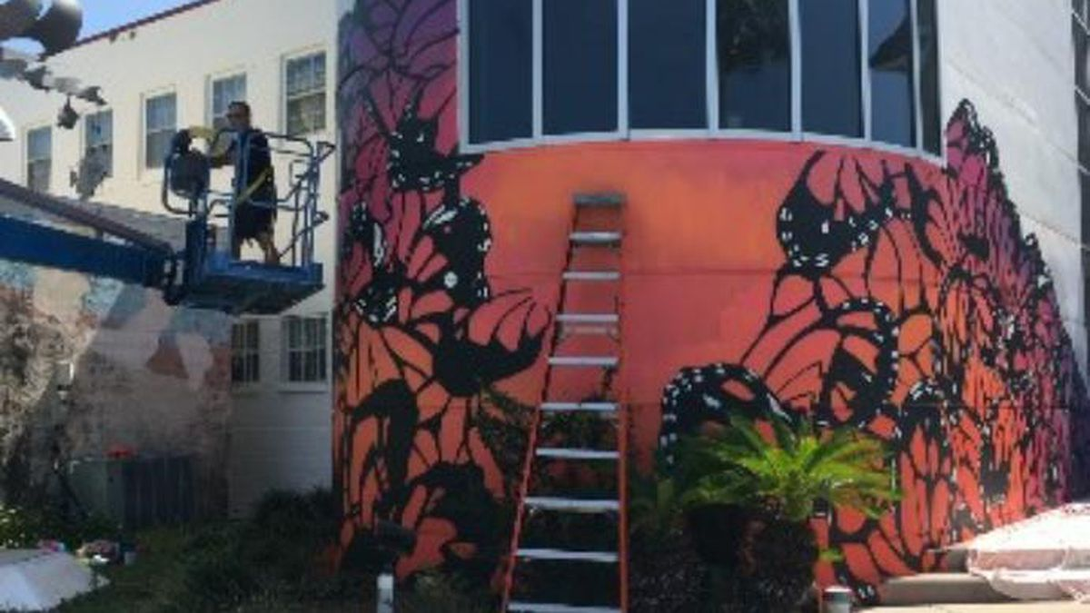 The Panama City Center for the Arts will reopen in June. While it's been closed, a mural has...