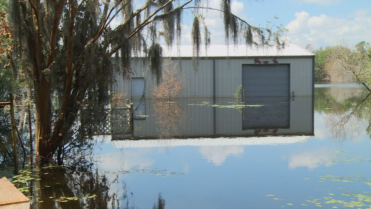 The flooding in Washington County is still ongoing and has taken over homes in the area. (WJHG)