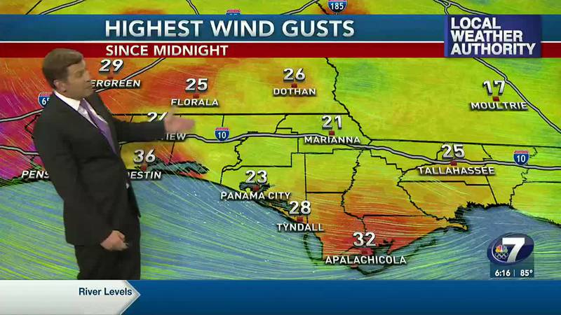 Warm and windy weather continues in the panhandle.