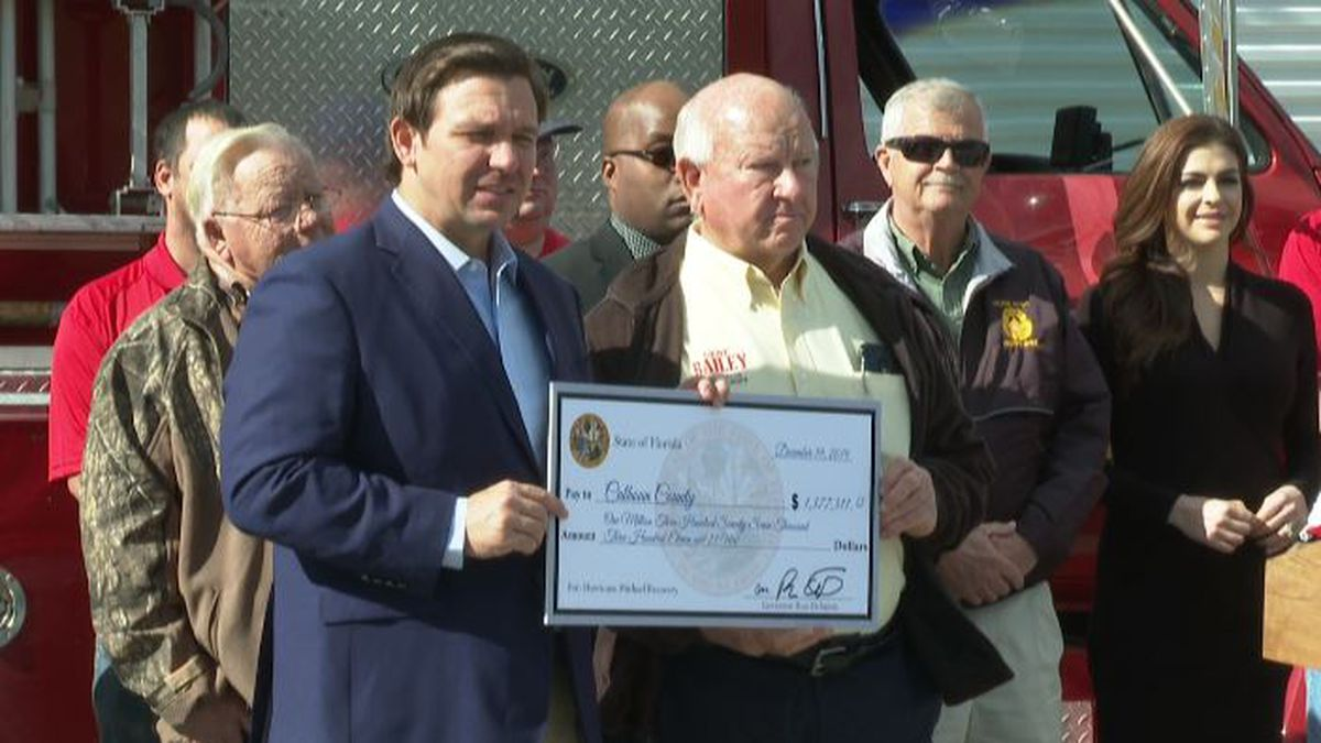 The chunk of money bringing out gratitude in local officials. (WJHG/WECP)