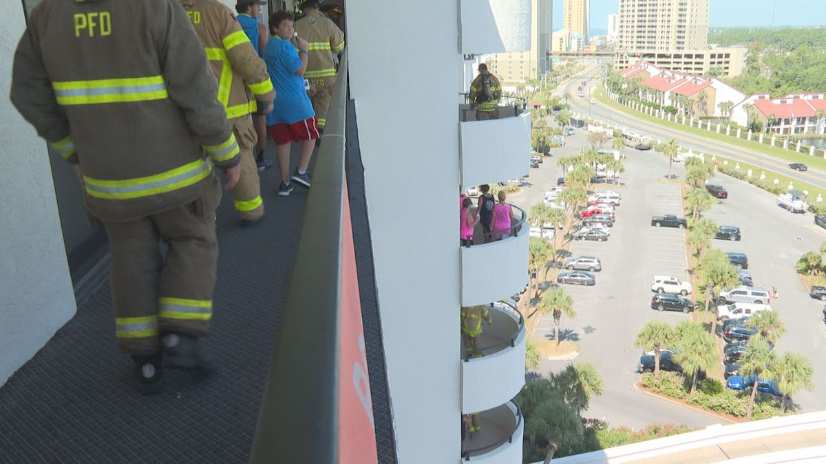 Saturday, more than 500 people from across the country made 10 trips up and down the stairs at Edgewater Beach Resort to honor first responders who lost their lives during 9/11 (WJHG/WECP)