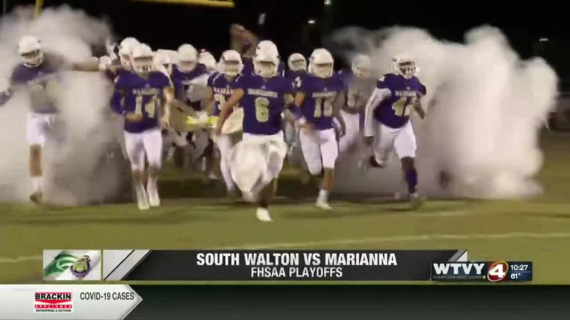 Marianna moves on to region final; defeat South Walton 48-31