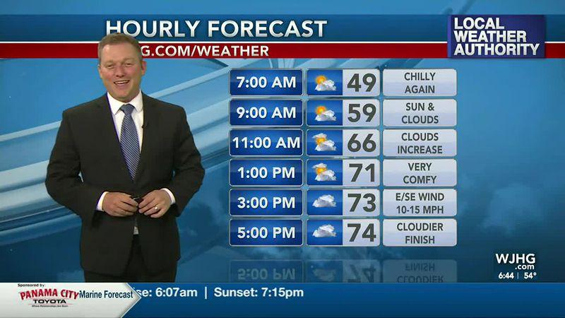 Meteorologist Ryan Michaels says we'll see clouds increasing today.