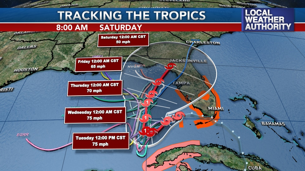 There's a large amount of uncertainty in the long range track of this system.