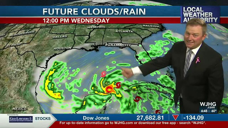 Meteorologist Ryan Michaels talking about today's forecast and the tropics.