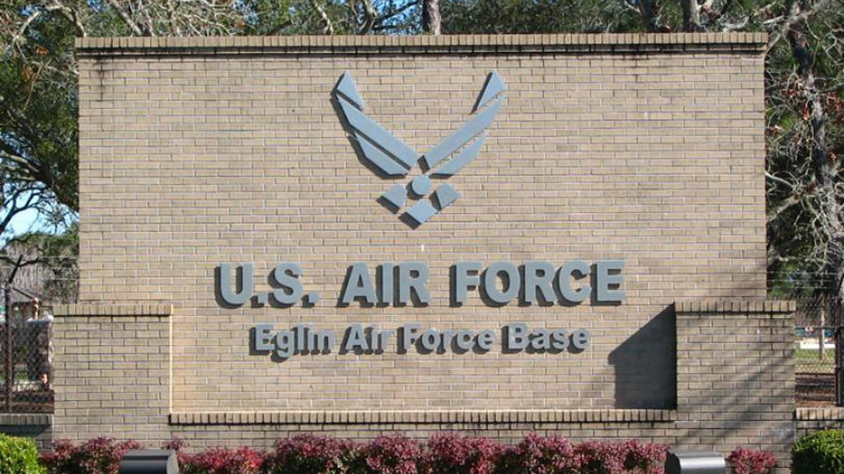 Eglin Air Force base will do a salute flyover using a two-ship formation of fighter aircraft....