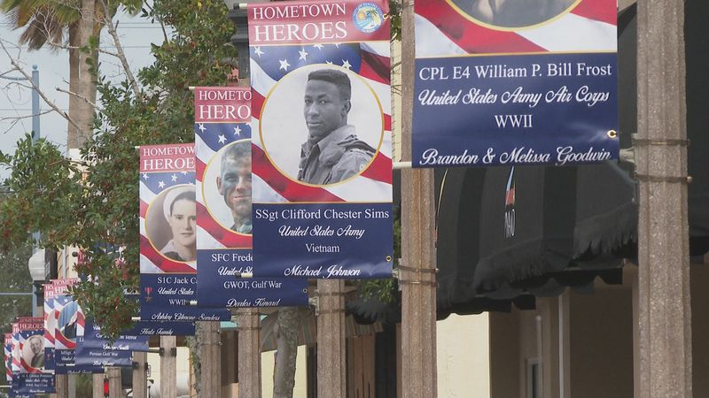 City officials say there are more than 90 banners currently hanging up.