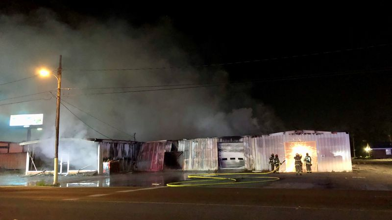 Firefighters responded to a commercial structure fire in Panama City early Thursday morning.