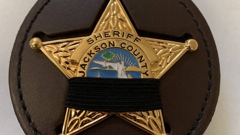 Florida law enforcement was encouraged to wear mourning bands, like this one, throughout the...
