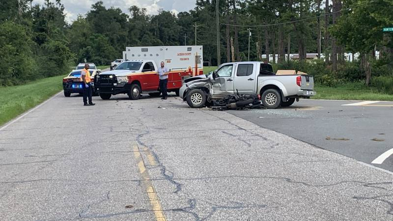 Fatal motorcycle accident in Jackson County.