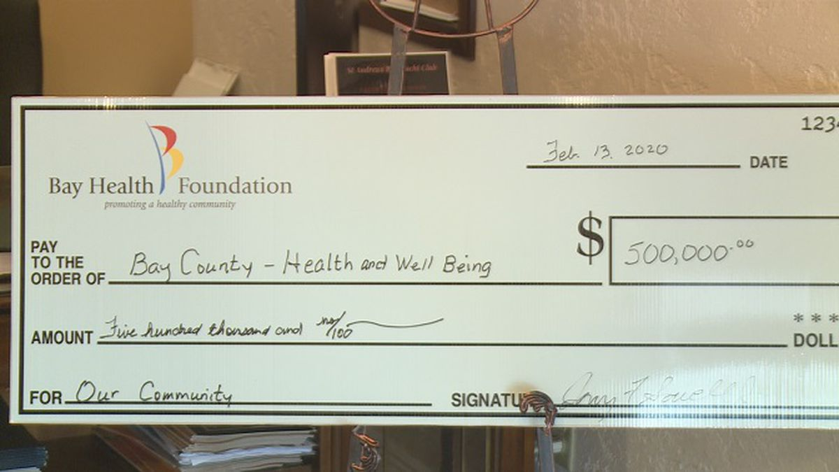 Check from the Bay Health Foundation. (WJHG)